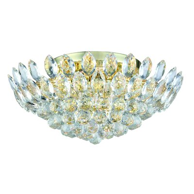Glendora 7-Light Flush Mount Finish: Gold