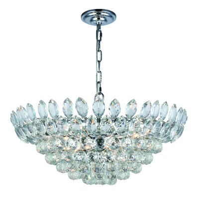 Glendora 11-Light LED Bowl Pendant Finish: Chrome