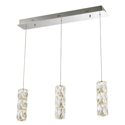 Alycia 3-Light LED Kitchen Island Pendant