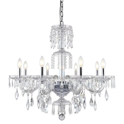 Elliott 8-Light Candle-Style Chandelier