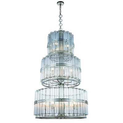 Tiemann 18-Light Drum Chandelier Color: Antique Silver Leaf