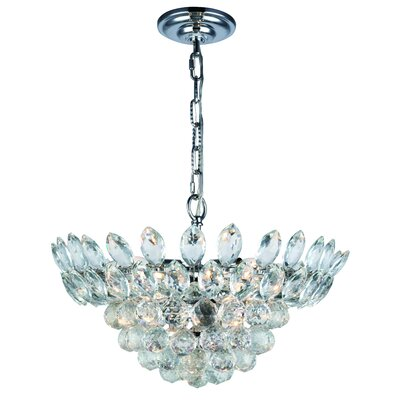 Glendora 6-Light LED Bowl Pendant Finish: Chrome