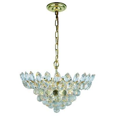 Vesper 6-Light Crystal Pendant Finish: Gold