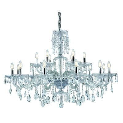 Deeanna 18-Light Candle-Style Chandelier