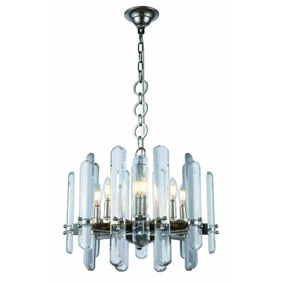 Lincoln 8-Light Candle-Style Chandelier Finish: Polished Nickel