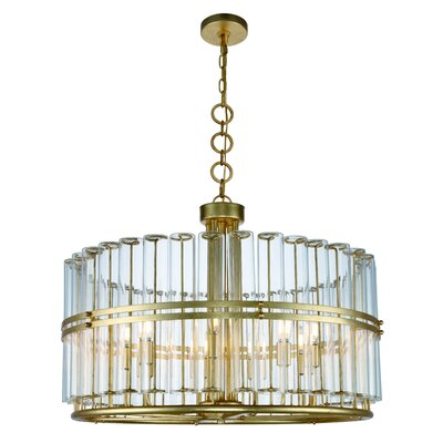 Piper 9-Light Drum Pendant Finish: Antique Gold Leaf