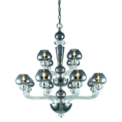 Cinnamon 12-Light Candle-Style Chandelier
