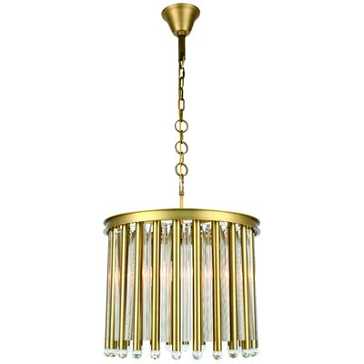 Pavie 4-Light Mini Chandelier Finish: Burnished Brass
