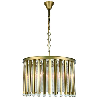 Pavie 6-Light Drum Chandelier Finish: Burnished Brass
