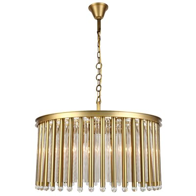 Pavie 8-Light Drum Chandelier Finish: Burnished Brass