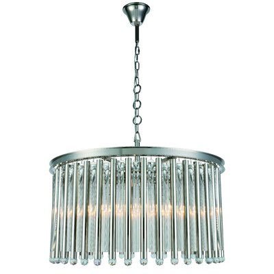 Pavie 8-Light Drum Chandelier Finish: Polished Nickel
