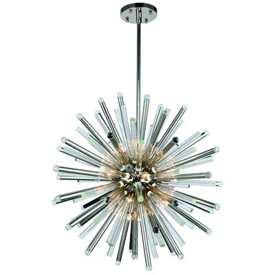 Pavie 21-Light Sputnik Chandelier Finish: Polished Nickel, Size: 94 H x 48 W x 48 D