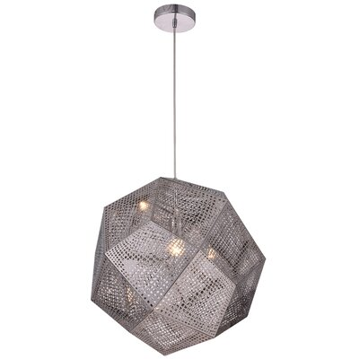 Bullis 1-Light Geometric Pendant Finish: Chrome, Size: 60 H x 12.5 W x 12.5 D