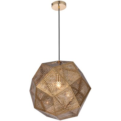 Bullis 1-Light Geometric Pendant Finish: Gold, Size: 60 H x 12.5 W x 12.5 D