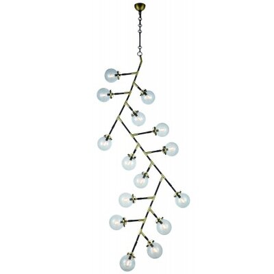 Roman 15-Light Sputnik Chandelier Finish: Burnished Brass/Flat Black