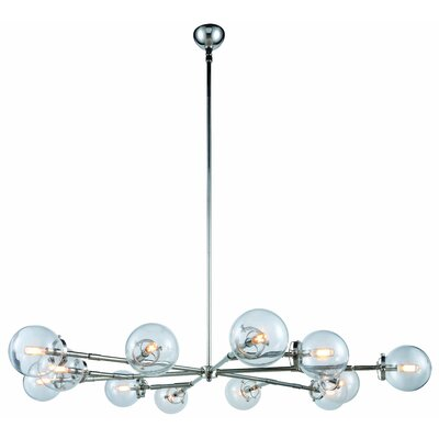 Roman 12-Light LED Sputnik Chandelier Finish: Polished Nickel