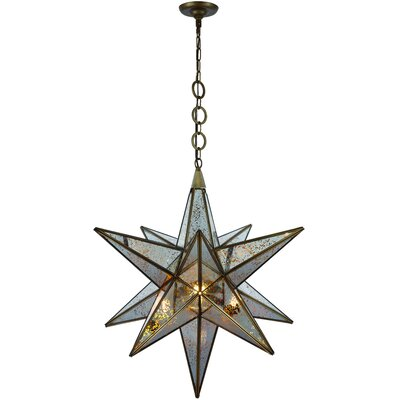 Chemaia Traditional 1-Light Geometric Pendant