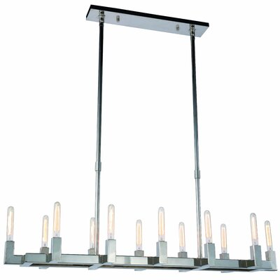 Donnell 12-Light LED Kitchen Island Pendant Finish: Polished Nickel