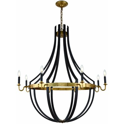 Karteek 8-Light LED Candle-Style Chandelier