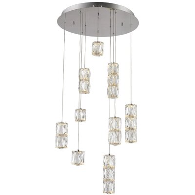 Alycia 9-Light LED Cascade Pendant