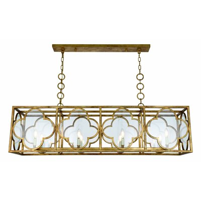 Angelo 8-Light LED Kitchen Island Pendant Finish: Golden Iron