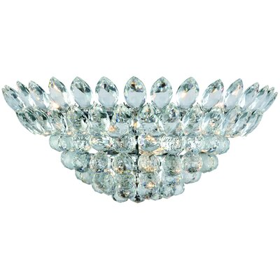 Glendora Half Moon 4-Light Flush Mount Finish: Chrome
