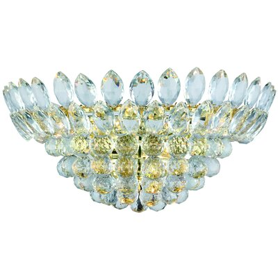 Glendora Half Moon 4-Light Flush Mount Finish: Gold