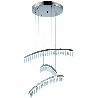 Mese 69-Light LED Crystal Pendant
