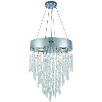 Carmel 4-Light LED Crystal Pendant