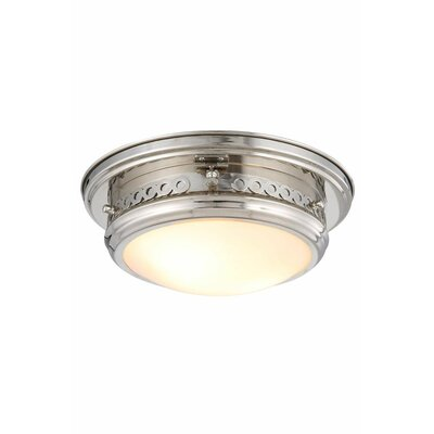Allenhurst 2-Light Flush Mount Finish: Polished Nickel