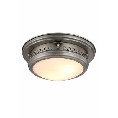 Allenhurst 2-Light Flush Mount Finish: Vintage Nickel