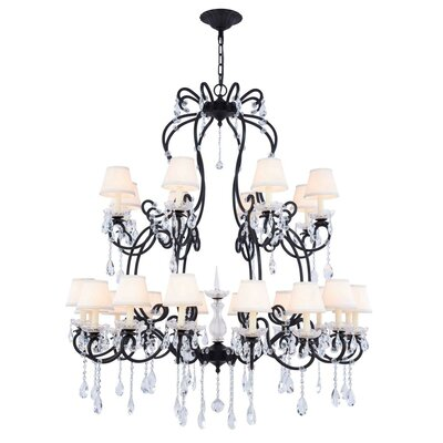 Merissa 24-Light Shaded Chandelier Finish: Vintage Bronze