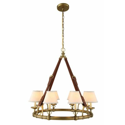 Slater 31-Light Shaded Chandelier Finish: Burnished Brass