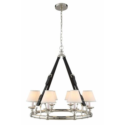 Slater 31-Light Shaded Chandelier Finish: Polished Nickel