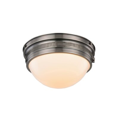 Tripoli 2-Light Flush Mount Finish: Vintage Nickel