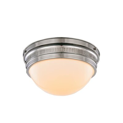Tripoli 2-Light Flush Mount Finish: Polished Nickel