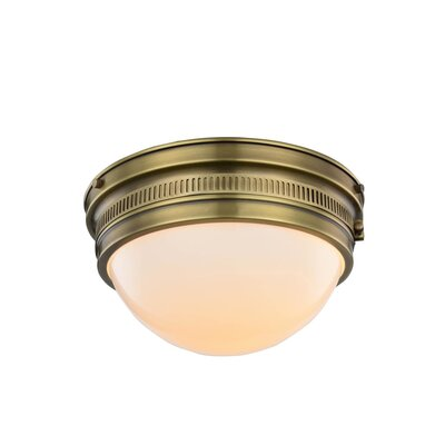 Tripoli 2-Light Flush Mount Finish: Burnished Brass