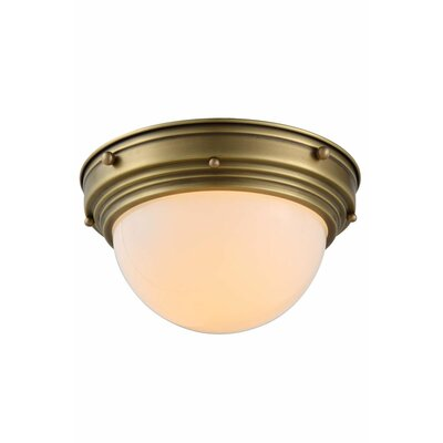 Aarav 1-Light Flush Mount Finish: Burnished Brass