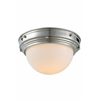 Aarav 1-Light Flush Mount Finish: Vintage Nickel