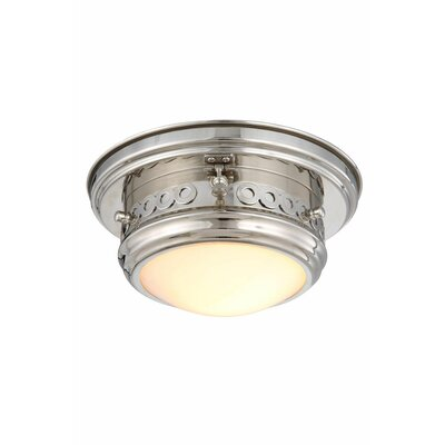Allenhurst 1-Light Flush Mount Finish: Polished Nickel