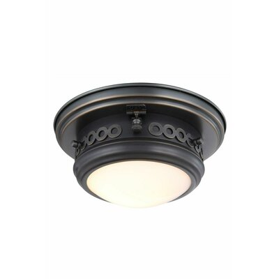 Mallory 1-Light Flush Mount Finish: Bronze