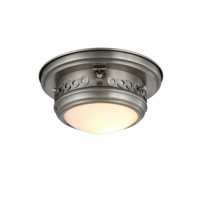Allenhurst 1-Light Flush Mount Finish: Vintage Nickel