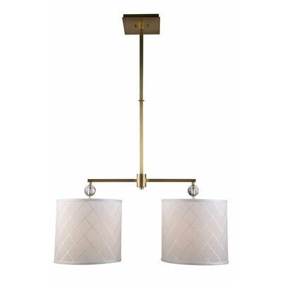 Raisa Contemporary 2-Light Drum Pendant Finish: Burnished Brass