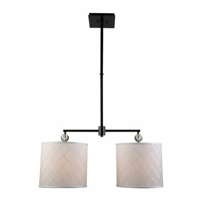 Raisa Contemporary 2-Light Drum Pendant Finish: Bronze