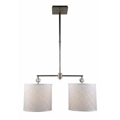 Raisa Contemporary 2-Light Drum Pendant Finish: Vintage Nickel