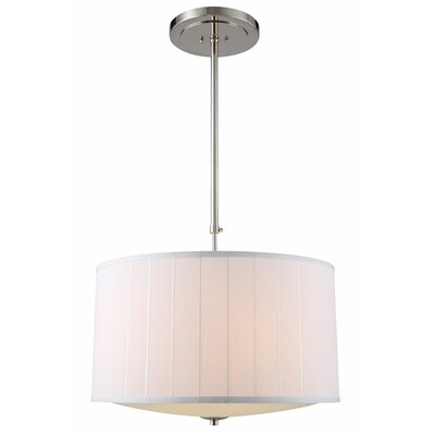 Blythe 4-Light Drum Pendant Finish: Polished Nickel
