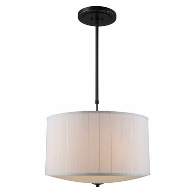 Blythe 4-Light Drum Pendant Finish: Bronze