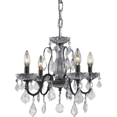 Thao 4-Light Crystal Chandelier Finish: Dark Bronze, Crystal Trim: Elegant Cut