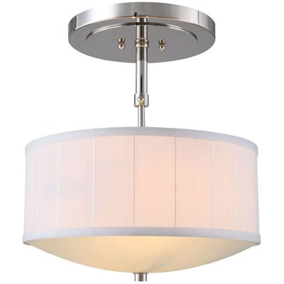 Blythe 2-Light Drum Pendant Finish: Polished Nickel