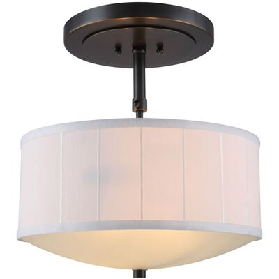 Blythe 2-Light Drum Pendant Finish: Bronze